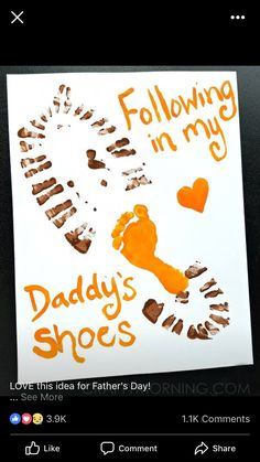 Looking for something cute and budget friendly to make for dad for Father's Day? Check out these Father's Day Handprint and Footprint Craft Ideas. first fathers day ideas, fathers day crafts kindergarten, fathers day ideas from daughter Daycare Crafts, Toddler Crafts, Preschool Crafts, Daddy Day, Daddy Gifts, Dad To Be Gifts, Dad Gift From Baby, Valentines, Mothers Day Crafts
