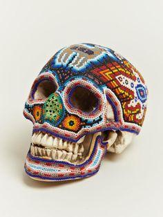 beaded skulls huichol people of mexico (4)