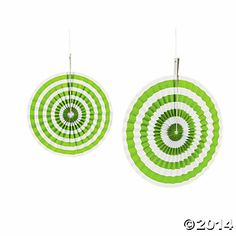 Lime Green Stripe Hanging Fans Oriental Trading