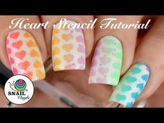 Heart Nail Stencils – Snail Vinyls