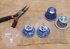 Orecchini di cialde caffè Nespresso #handmade #diy #nespresso #cialde #capsule #coffeepod