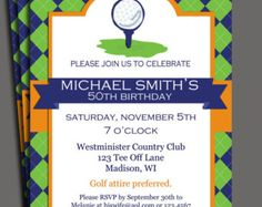 Golf Tournament Invitation On Etsy A Global Handmade And Vintage Marketplace