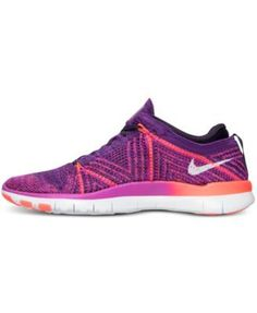 b815354351e2 Nike Women s Free Tr Flyknit Training Sneakers from Finish Line - Purple  7.5 Finish Line