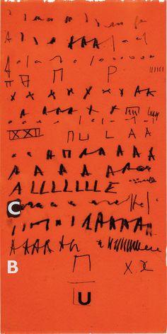 garadinervi - Mira Schendel, Untitled, ca. Nalini Malani, Pegge Hopper, Amrita Sher Gil, Hung Liu, Artsy, Writing, Colored Rice, Abstract, Ephemera