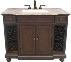 Wrought Iron Vanity beautiful 36-inch wrought iron vanity in customers bathroom