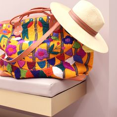 A weekend getaway has never looked so good. Get packing with the Stela 9 Allende Embroidered Leather Weekender Bag