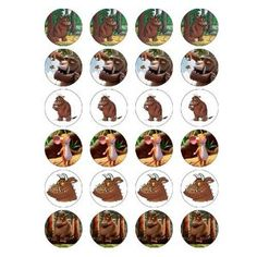 The Gruffalo style 24 Edible Wafer Paper Fairy/Cup Cake Toppers on an A4 sheet - Birthday Cake and Party Idea: Amazon.co.uk: Kitchen & Home
