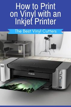 How to Print on Vinyl with an Inkjet Printer. Would you like to know how to print on vinyl using the inkjet printer that you have at home? Check out this tutorial and important tips for printing on vinyl with an inkjet printer. #printonvinyl #vinyltutorial