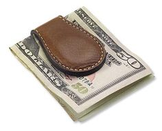 Part of our US Cavalry collection, this magnetic leather money clip is the Hercules of money clips.