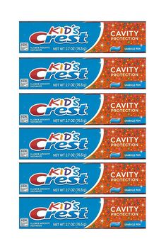 Kids Crest Toothpaste - Cavity Protection, 2.7 Oz,(pack of 6) * Check out the image by visiting the link.
