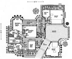 First Floor Plan of French Country   Southern   House Plan 66247