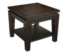 ASIA SQUARE END TABLE WITH SHELF - Sunpan