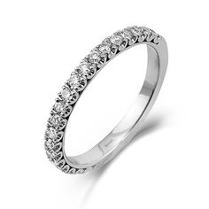 Classy Collection - This lovely 18K white band is comprised of .50ctw round white Diamonds. - LP1587