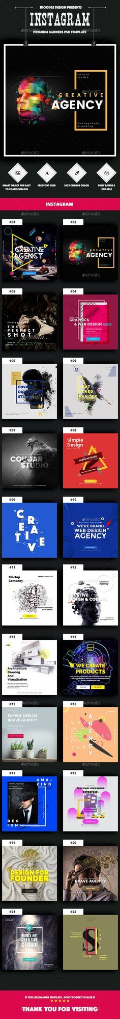 22 Agency Instagram Banners Template - Download Here : http://graphicriver.net/item/agency-instagram-banners-ads-22-psd/15392703?ref=yinkira