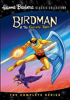 Birdman - Birdman and the Galaxy Trio is an animated science fiction television series created by Alex Toth and produced by Hanna-Barbera. Classic Cartoon Characters, Classic Cartoons, Cartoon Tv, Vintage Cartoon, Cartoon Shows, Vintage Comics, Old School Cartoons, Old Cartoons, Retro Cartoons