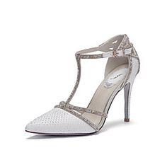 Scarpe Donna Di pelle A stiletto Tacchi/A punta Scarpe col tacco Matrimonio/Formale Bianco/Argento - USD $ 64.99