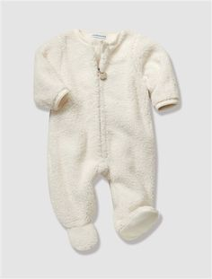 Newborn Fluffy Sleepsuit Cream