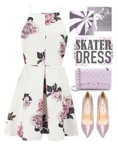 """""""74 - Cutout Skater Dress Contest"""" by dreams-of-vogue ❤ liked on Polyvore"""
