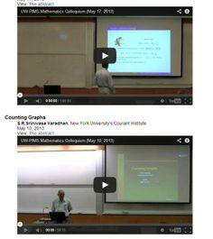 Mathematics Colloquium Video Archive from the University of Washington.   http://www.math.washington.edu/Seminars/coll_videos.php