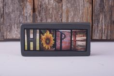Hope Mini Wood Sign, Wood Sign, Hope Sign, Gift for Friend, Gift for her by on Etsy Hope Sign, Gifts For Friends, Gifts For Her, Alphabet Photography, Wood Signs, Unique Jewelry, Mini, Handmade Gifts, Frame