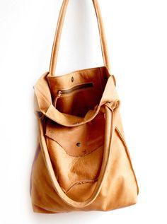 213855e19fd2 Leather Hobo Bag - Vintage Style - Shabby chique - Market Bag - Honey  colored Shoulderbag