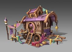 ArtStation - dry goods carriage, del goni