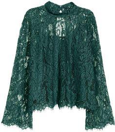Ideas Crochet Clothes For Women Tunics Lace Tops Sewing Clothes Women, Clothes For Women, Grey Clothes, Crochet Clothes, Blouse H&m, Collar Blouse, Long Blouse, Nice Dresses, Casual Dresses