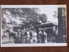 Photo postcard of the Kalamazoo & Grand Rapids stagecoach. The postcard may be from around but the photo itself looks more like the or judging from the clothing styles. Photo Postcards, Clothing Styles, Old Photos, Worlds Largest, Michigan, History, Painting, Ebay, Collection