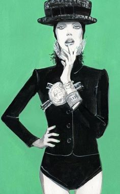 Chanel #fashion illustration