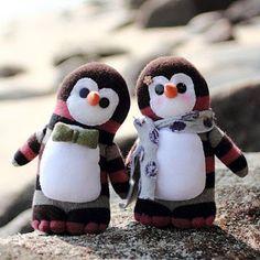 creatief besparen en meer: pinguin van sok