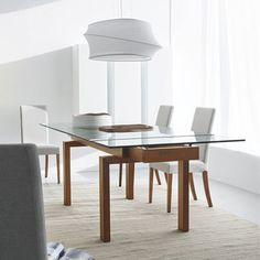 Extendable Gl Dining Table Google Search