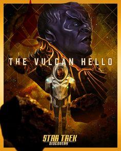 "Star Trek Discovery: ""The Vulcan Hello"" — Laz Marquez Uss Discovery, Star Trek Gifts, Diary Of A Madman, Starfleet Academy, Star Trek Series, Tv Series, Sci Fi Tv Shows, Fiction Film, Best Movie Posters"