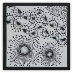 Dandelions inspire, To do on a large scale omg-cute (Make a Wish) Xplore & Xpress: Zentangle challenge # 72