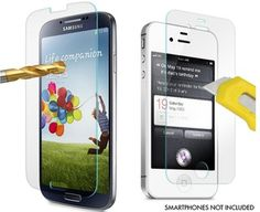 Premium Plexiglass Screen Protector with Oleophobic Coating (Choice of iPhone 5/5S/5C, iPhone 4, S3 and S4)