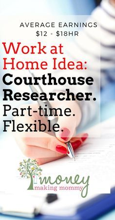 Work at home as a courthouse researcher. Find out more about this flexible, part-time position that's not only legitimate, but a job that pays well too. Be a Courthouse Researcher and Work From Home - get details on this flexible, part-time job. Earn Money From Home, Way To Make Money, How To Make, Work From Home Opportunities, Marketing Program, Affiliate Marketing, Part Time Jobs, Be Your Own Boss, Work From Home Moms