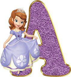 Alfabeto Decorativo: Alfabeto - Princesa Sofia 2 - PNG - Completo - Mai...