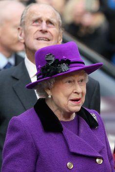 Queen Elizabeth II and Prince Philip, Duke of Edinburgh visit Southwark Cathedral on November 21, 2013 in London, England.