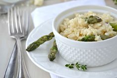 Lemon and Asparagus Risotto - Mother Thyme