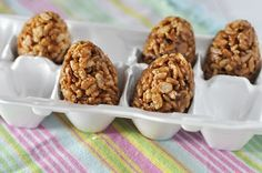 Peanut Butter Nutella Crispy Treats Easter Eggs. Say THAT five times fast.