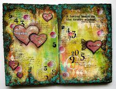 Promise -Art journal page  by Sanda Reynolds www.artfulflight.com