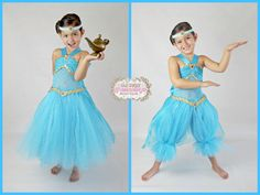 Princess Jasmine Inspired Turquoise Gold by Jasmine Costume Kids, Princess Jasmine Costume, Aladdin Costume, Disney Princess Tutu, Princess Tutu Dresses, Tutus For Girls, Girls Dresses, Tulle Dress, Dress Up