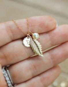 Fall Wedding Jewelry - Personalized Necklace