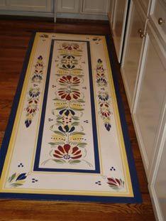 Custom Designed Floor Cloth By Ellen Smith Of Smith Floor Works.
