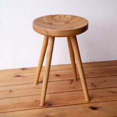 木のスツール(ボタン) | タモ
