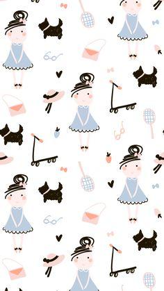 Vintage Flowers Wallpaper, Pastel Wallpaper, Flower Wallpaper, Wallpaper Backgrounds, Textile Pattern Design, Surface Pattern Design, Textile Patterns, Print Patterns, Cute Lockscreens