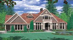 This 2 story Craftsman features 3663 sq feet. Call us at 866-214-2242 to talk to a House Plan Specialist about your future dream home!