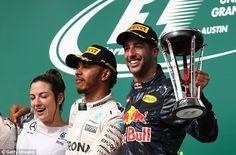 The popular Australian finished third behind race winner Lewis Hamilton in Austin, Texas