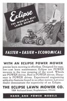 Eclipse Lawn Mower 1948 Ad Picture
