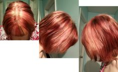 Love my new hair color Different shades of red and blonde.