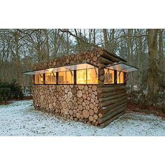 It takes another meaning to a log cabin!! Some serious craftsmanship and ingenuity involved here
